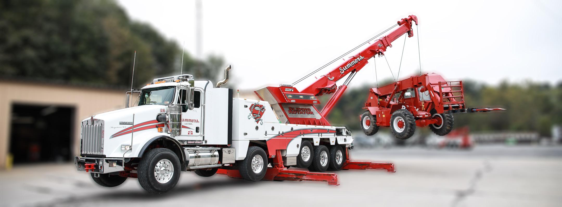 80 Ton Wrecker Crane Service Summers Towing