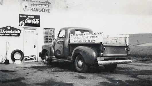Summers Towing Vintage Garage